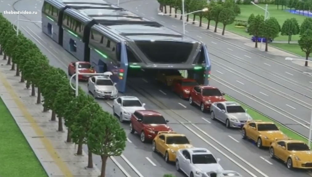 Transit Elevated Bus новый пассажирский транспорт на замену метро