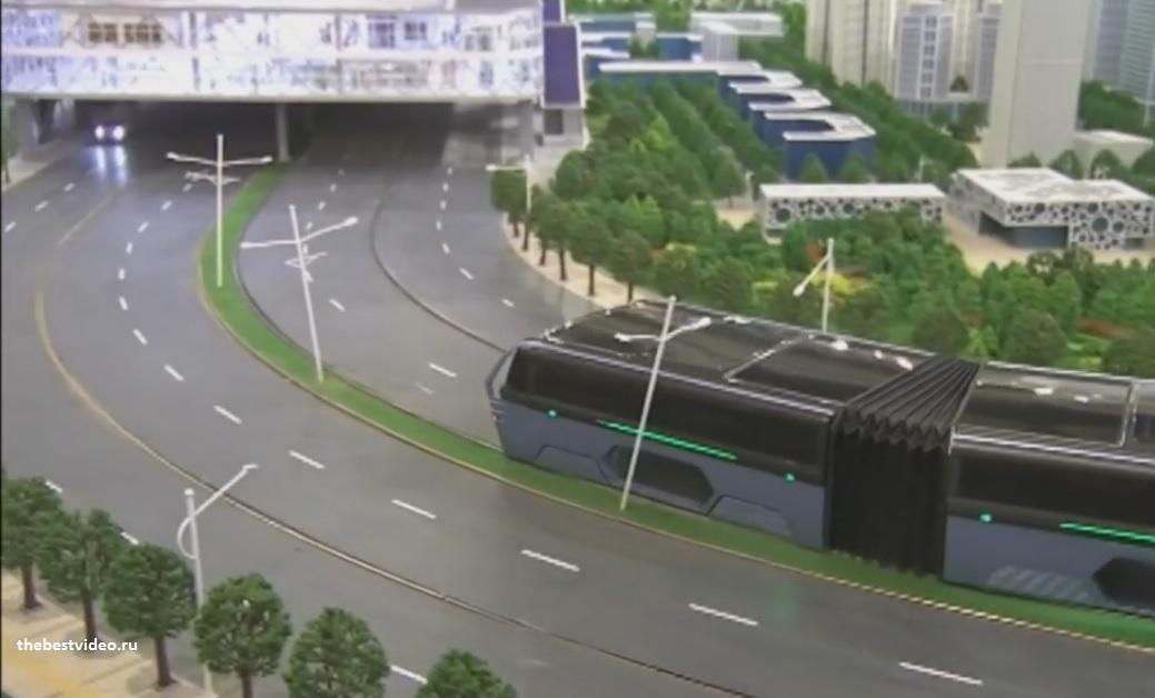 straddling bus скоростной пассажирский транспорт