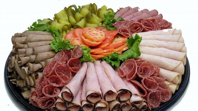 Варианты мясной нарезки фото
